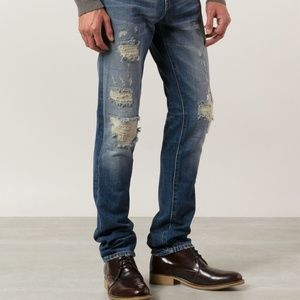 "J Brand ""Tyler"" Distressed Denim Jeans"